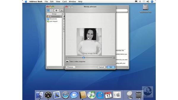 Pictures in Address Book: Mac OS X 10.4 Tiger Essential Training
