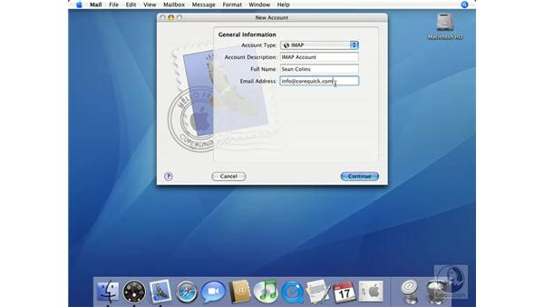 Using Mail for the First Time: Mac OS X 10.4 Tiger Essential Training
