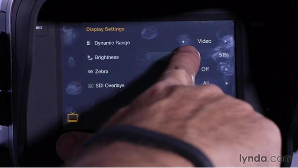 Controlling the LCD brightness: Shooting with Blackmagic Cameras