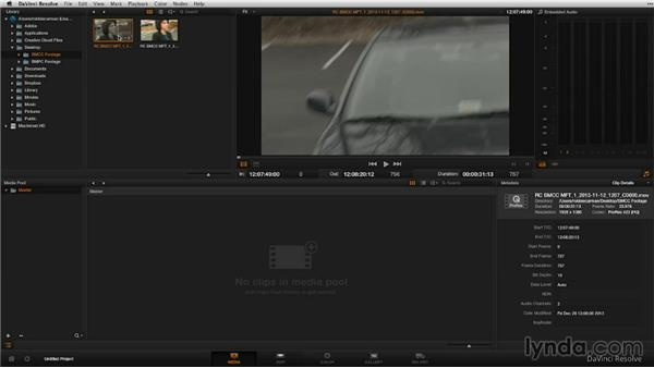 Importing footage into Resolve: Shooting with Blackmagic Cameras