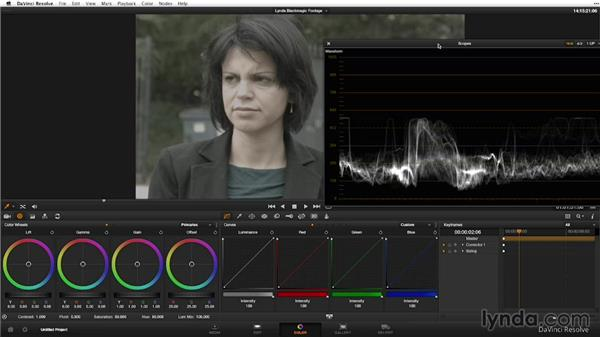 Performing primary color correction: Shooting with Blackmagic Cameras