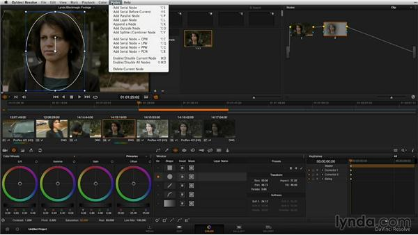 Performing secondary color correction: Shooting with Blackmagic Cameras