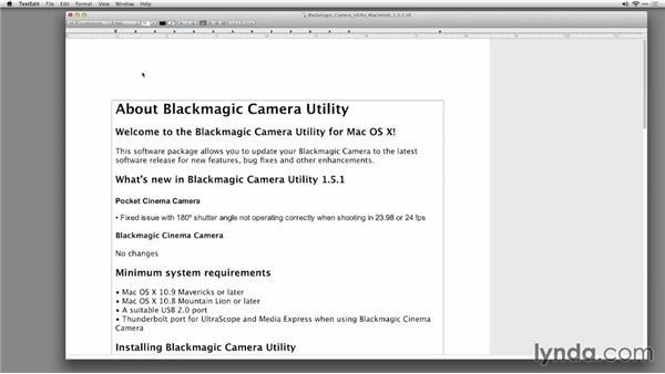 Updating a Cinema Camera: Shooting with Blackmagic Cameras