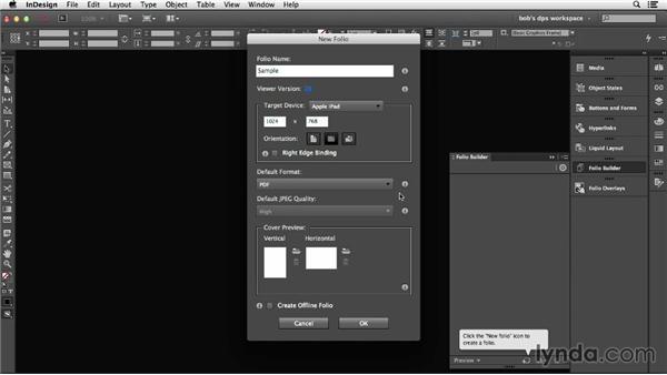 Creating a folio: Adobe Digital Publishing Suite Essential Training