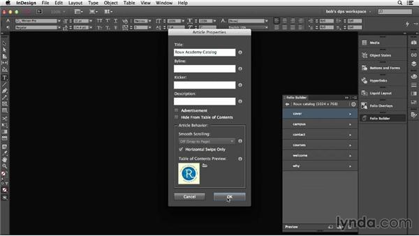 Understanding TOC images: Adobe Digital Publishing Suite Essential Training