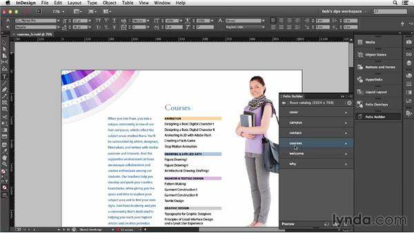 Horizontal vs. vertical swiping: Adobe Digital Publishing Suite Essential Training