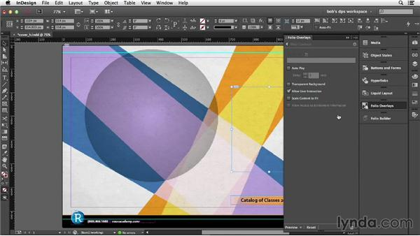 Adding and configuring Edge Animate animations: Adobe Digital Publishing Suite Essential Training
