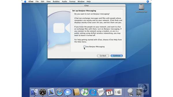 Setting up iChat: Mac OS X 10.4 Tiger Essential Training