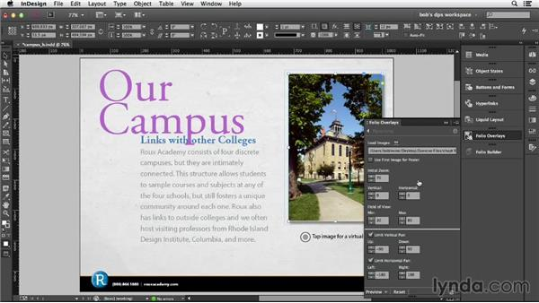 Adding a panorama: Adobe Digital Publishing Suite Essential Training