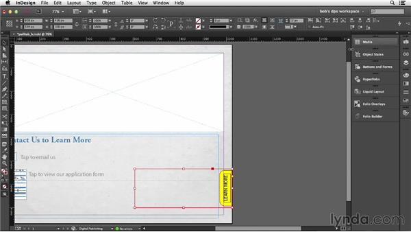 Creating a pull tab: Adobe Digital Publishing Suite Essential Training