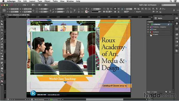 Understanding and creating slideshows: Adobe Digital Publishing Suite Essential Training