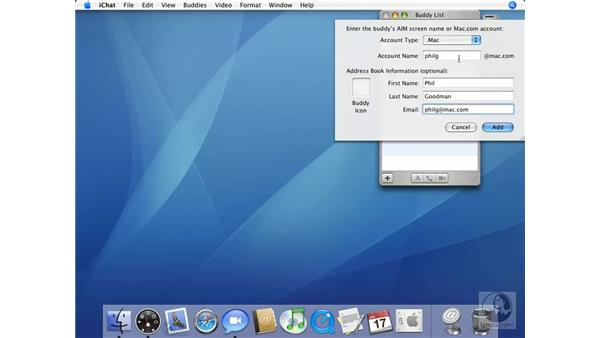 Adding a Buddy to Your List: Mac OS X 10.4 Tiger Essential Training