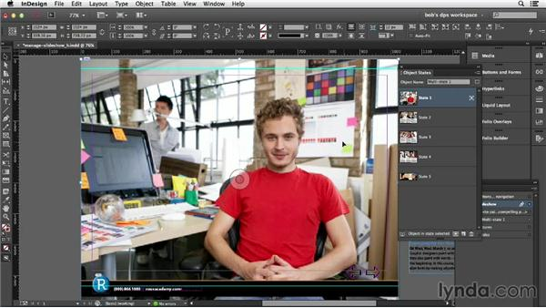 Managing content in multistate objects: Adobe Digital Publishing Suite Essential Training