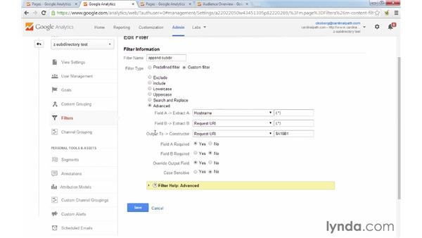 Using an advanced filter to get accurate information on subdomains: Google Analytics Tips