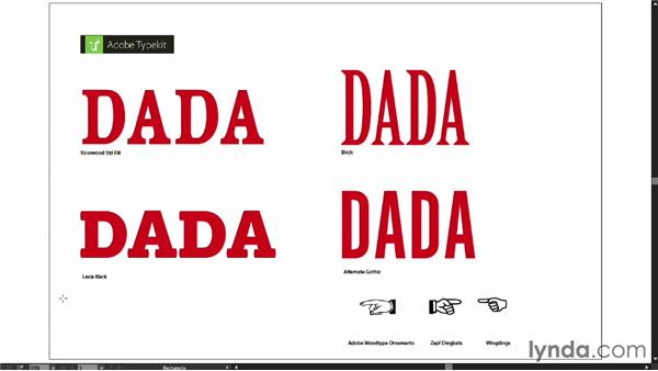 Project overview and choosing fonts: Type Project: Dada Poster