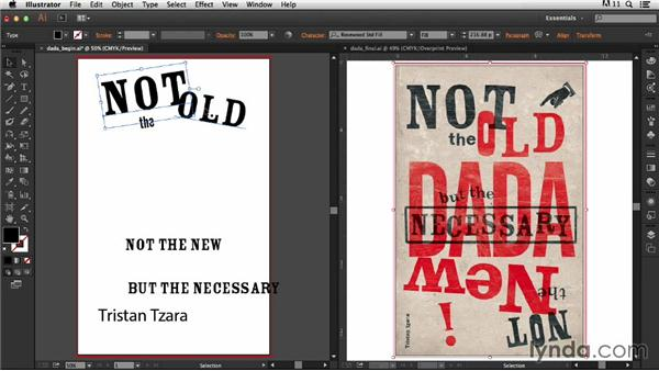 Setting the type: Type Project: Dada Poster