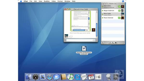 Transfering Files in iChat: Mac OS X 10.4 Tiger Essential Training