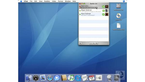 Status Messages: Mac OS X 10.4 Tiger Essential Training