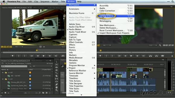 Editing: Premiere Pro Guru: Customizing Workspaces