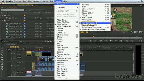 Changing a saved workspace: Premiere Pro Guru: Customizing Workspaces