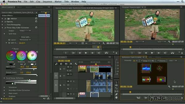 The modified Color Correction workspace: Premiere Pro Guru: Customizing Workspaces