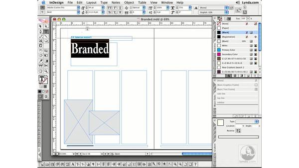 Filling Text: InDesign CS2 Essential Training