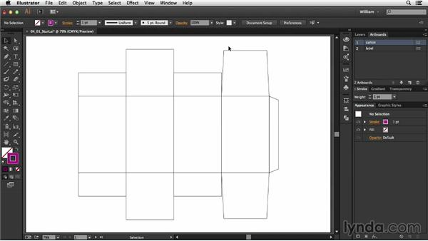 Establishing a bleed area: Package Design with Illustrator