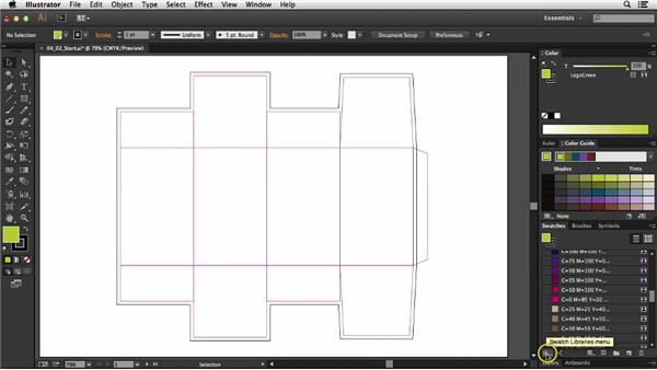 Selecting colors: Package Design with Illustrator