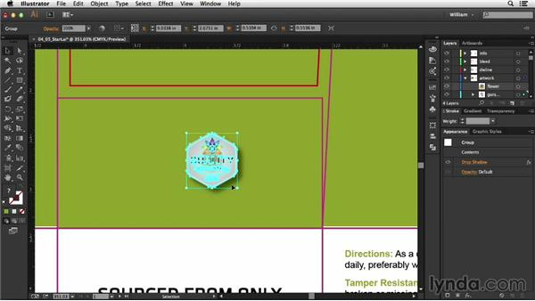 Special considerations for raster effects: Package Design with Illustrator