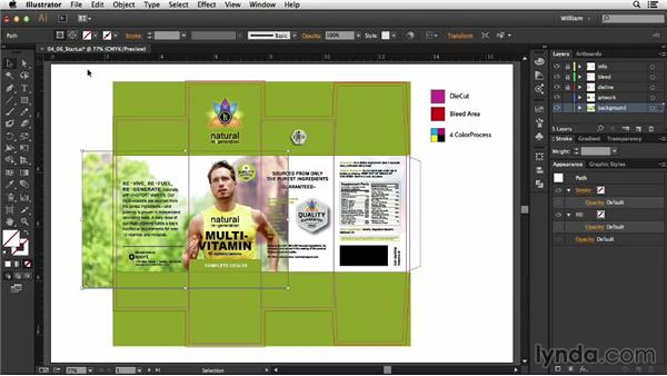 Fitting art to panels: Package Design with Illustrator
