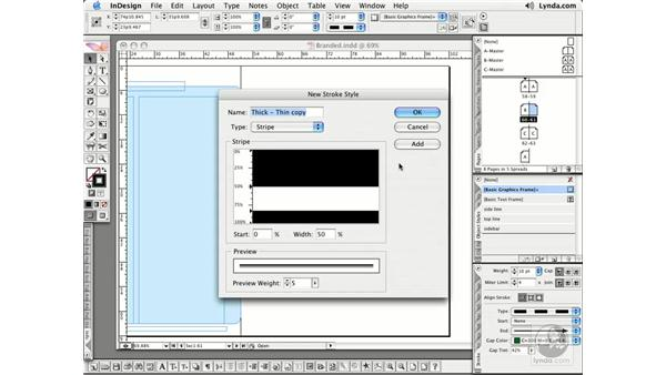 Custom Stroke Styles: InDesign CS2 Essential Training