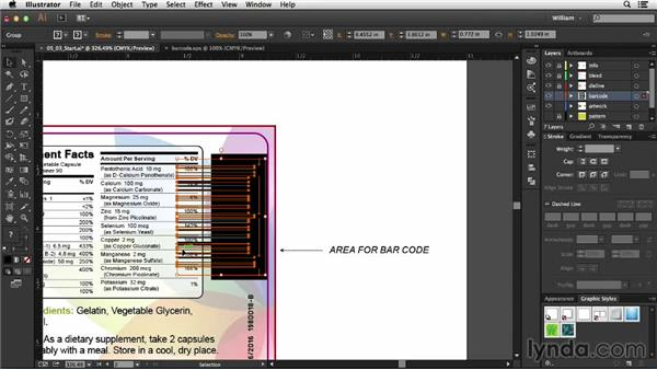 Incorporating a barcode: Package Design with Illustrator