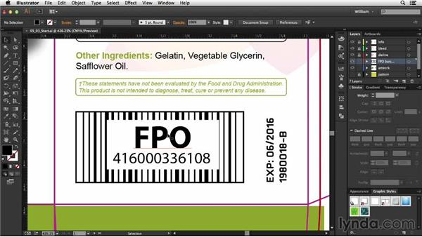 For Position Only (FPO) barcodes: Package Design with Illustrator