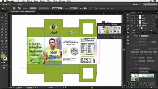 Preparing artwork: Package Design with Illustrator