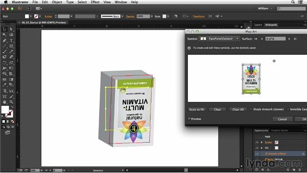 Adding artwork to a 3D shape: Package Design with Illustrator