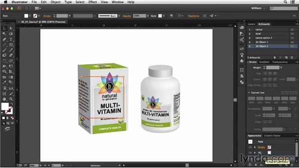 Setting up the presentation: Package Design with Illustrator