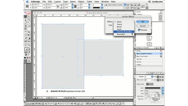 Corner Effects: InDesign CS2 Essential Training