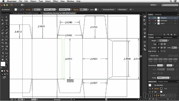Incorporating a cutting die CAD file: Package Design with Illustrator