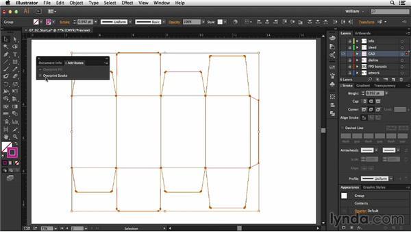 Adjusting a dieline: Package Design with Illustrator