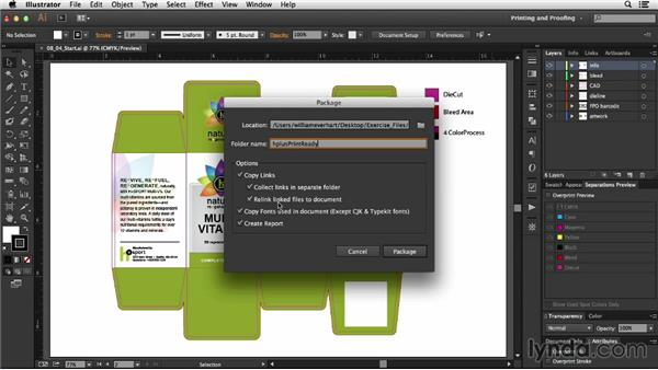 Gathering your files: Package Design with Illustrator