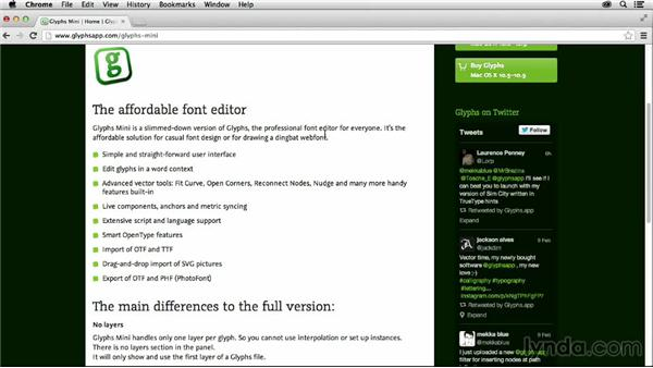 Tools overview: Creating Icon Fonts for the Web