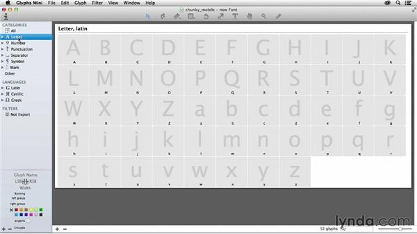 Creating a new font: Creating Icon Fonts for the Web