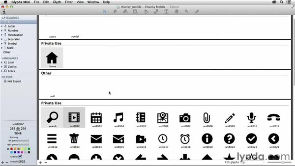 Renaming glyphs: Creating Icon Fonts for the Web