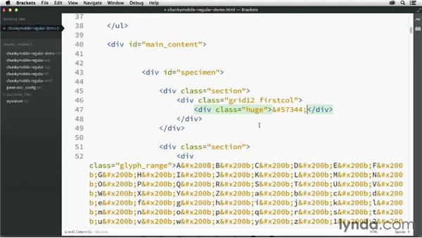 Exploring generated files: Creating Icon Fonts for the Web