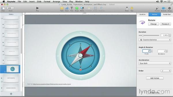 Using emphasis animations: Keynote: Builds, Transitions, Animations, and Effects