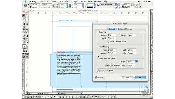 Text Frame Options: InDesign CS2 Essential Training