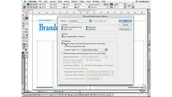 Importing Word Text: InDesign CS2 Essential Training