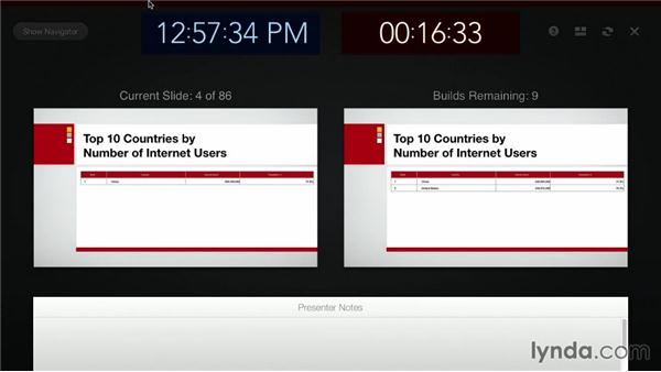 Feedback in Presenter Display view: Keynote: Builds, Transitions, Animations, and Effects
