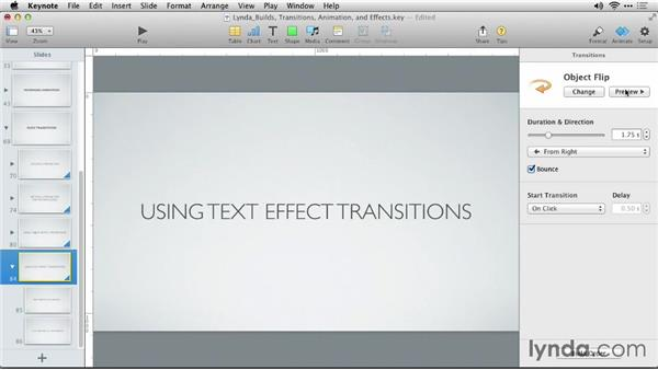 Using text effect transitions ccuart Image collections