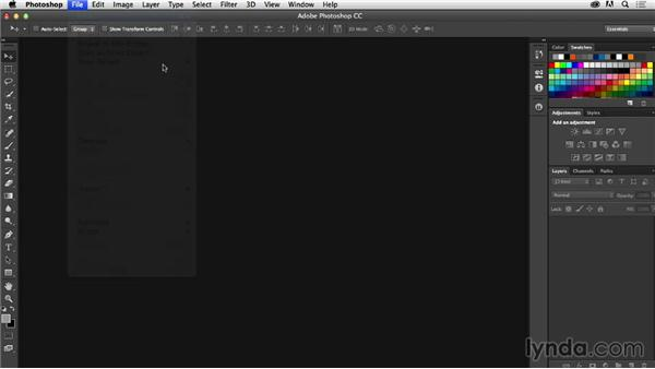 Adjusting Photoshop color settings: Photoshop CC for Web Design